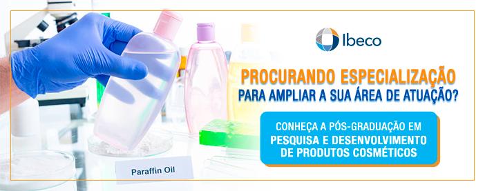 pós-graduação em pesquisa e desenvolvimento de produtos cosméticos